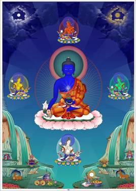 medicine buddha with dakinis